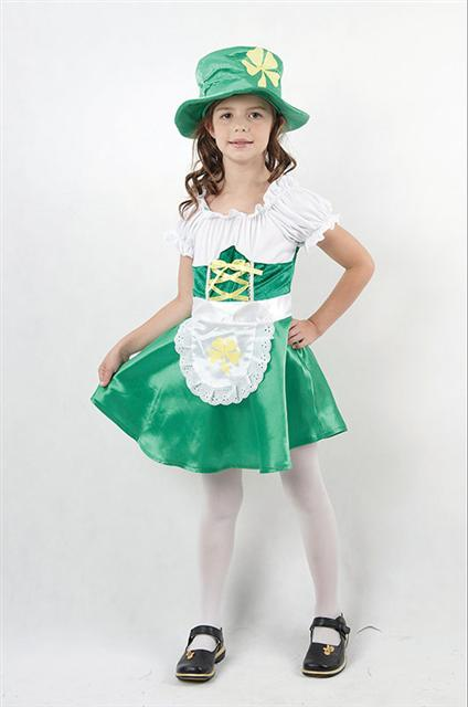 Girls-Fancy-Dress-Costume-Irish-Leprechaun-All-sizes